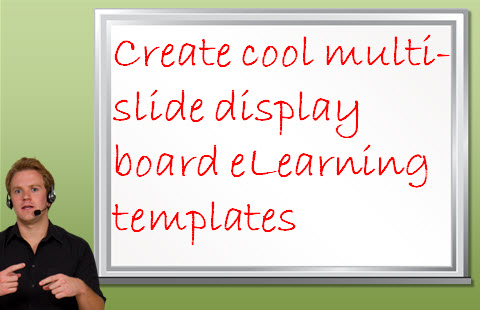 eLearning Template Display Board