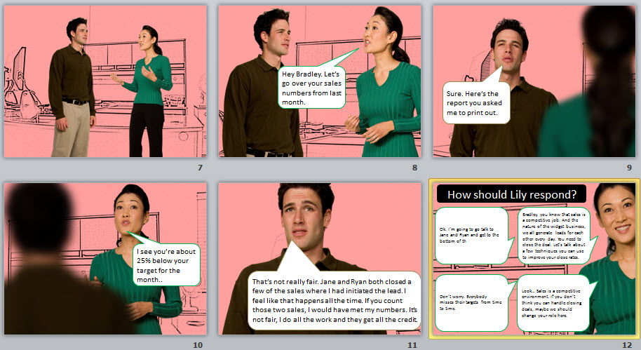 eLearning example conversation
