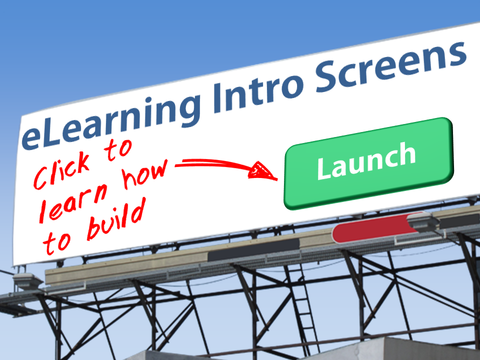 eLearning Intro Screens - How to Build