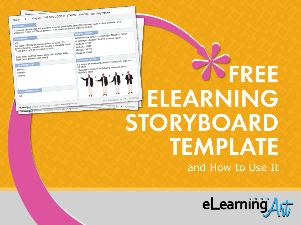 Free eLearning Storyboard Template and How To Use It