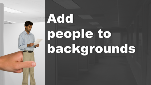 Add people to background images