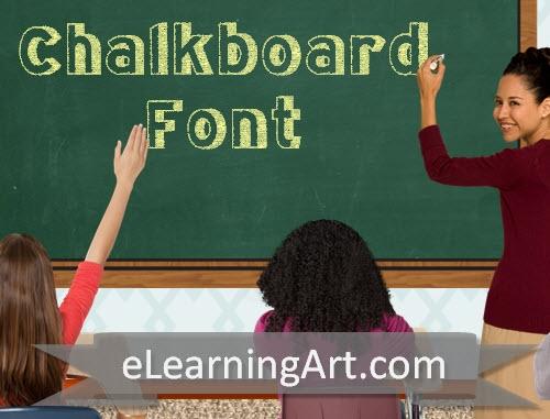FontHandChalkboardBlock