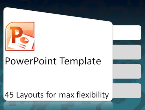 powerpoint template blue  elearningart, Powerpoint