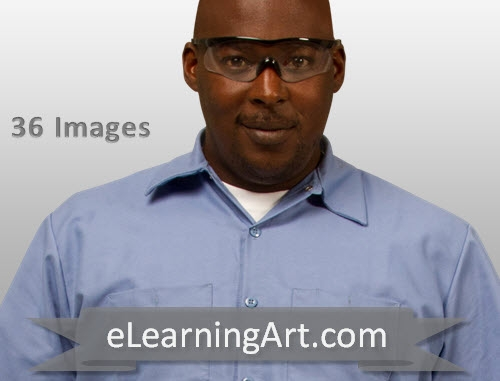 1e3984733a3 ... Black Man in Uniform and Safety Glasses. Uniform.Mike.Glasses