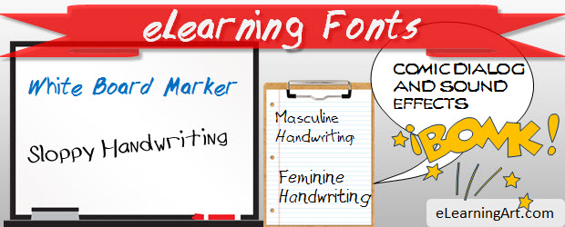 eLearning fonts