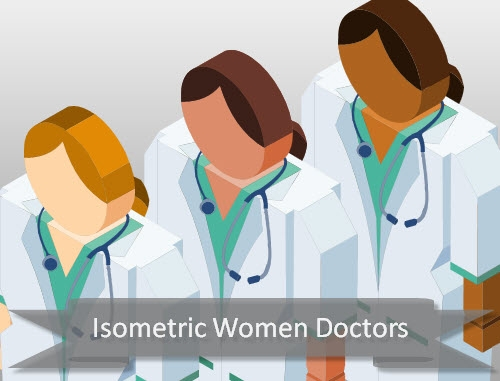 isometric-doctor-women
