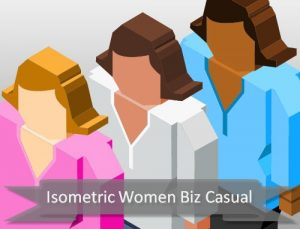 isometric-women-businesscasual
