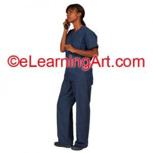 nurse-phone-african-american
