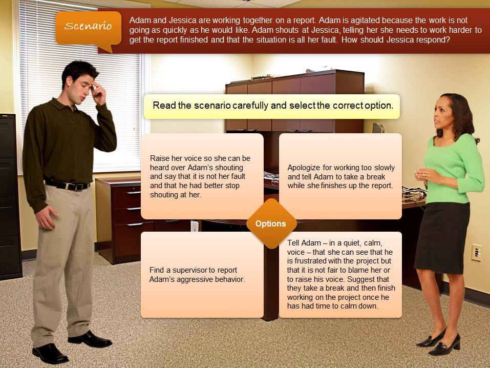 eLearning characters in scenarios