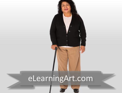 Anita - Hispanic Woman with Cane