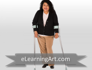 Anita - Hispanic Woman with Crutches
