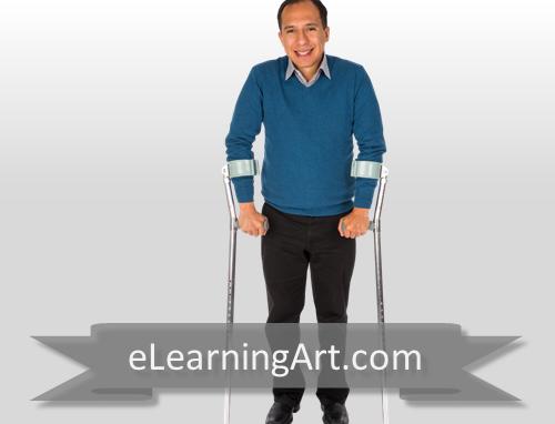 Christopher - Hispanic Man with Crutches