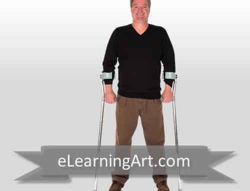 David - White Man with Crutches