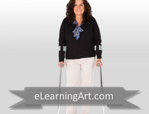 Jeanette - White Woman with Crutches