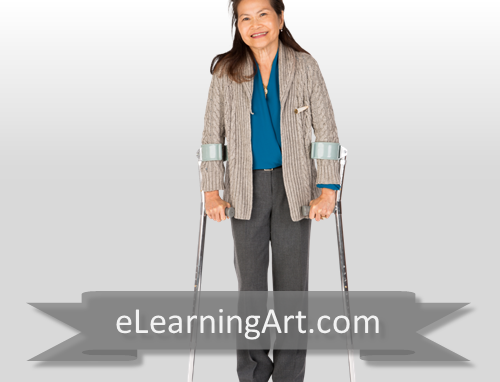Karen - Asian Woman with Crutches