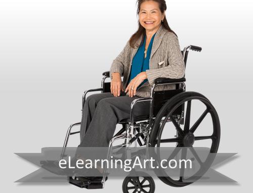 karen asian woman in wheelchair elearningart
