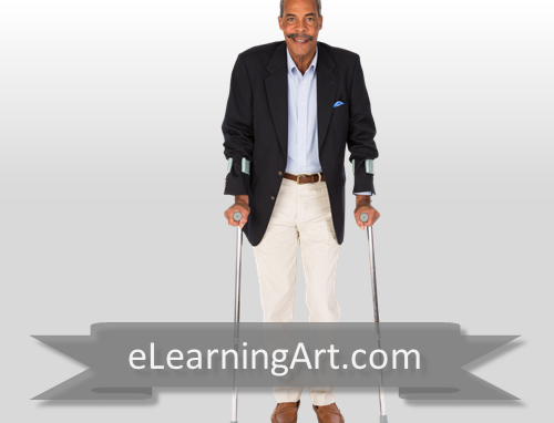 Rick - Black Man with Crutches