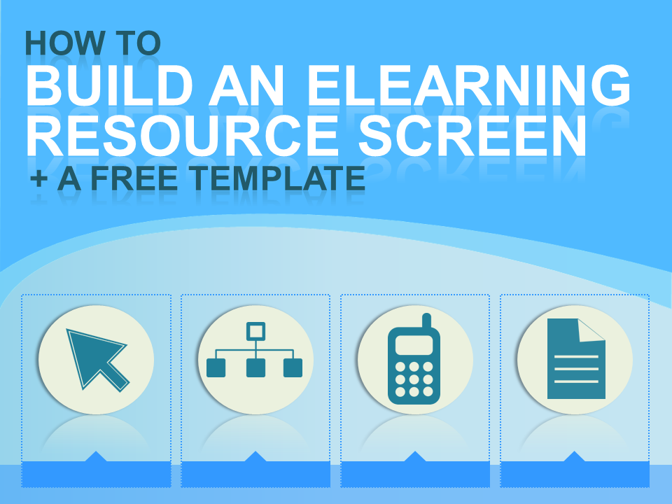Free eLearning Template - Resource Screen