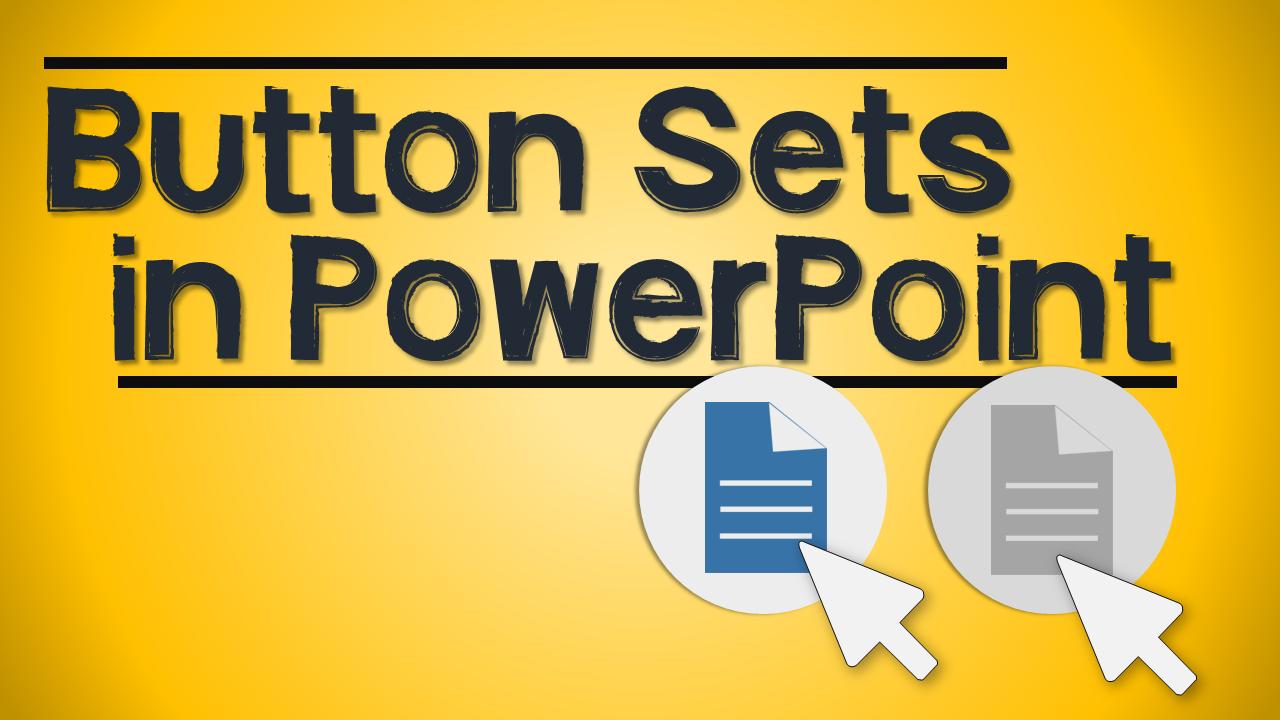 Create Button Set in PowerPoint tutorial