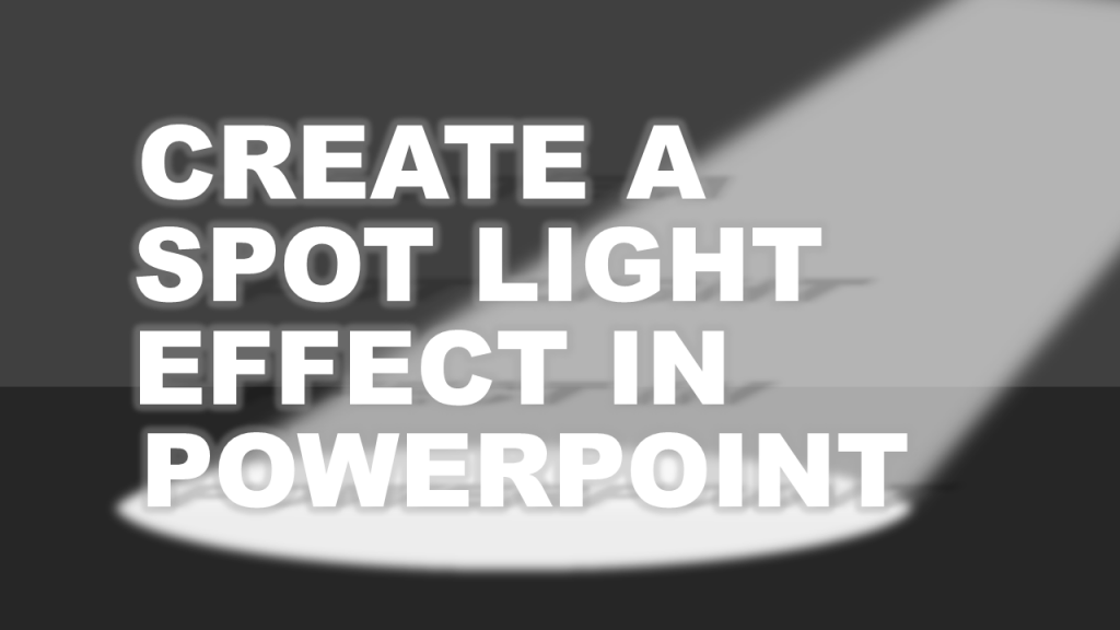 Draw a spotlight in PowerPoint tutorial