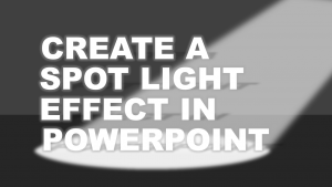 Draw a spotlight in PowerPoint tutorial