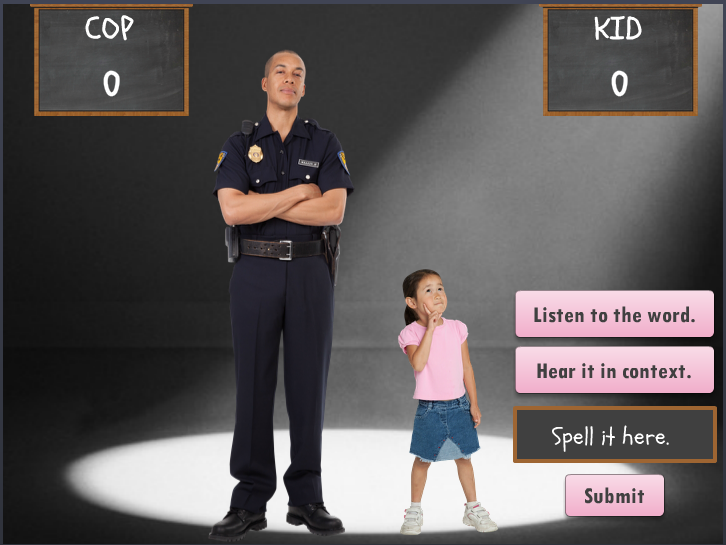 image of cop elearning quiz example cop vs kid