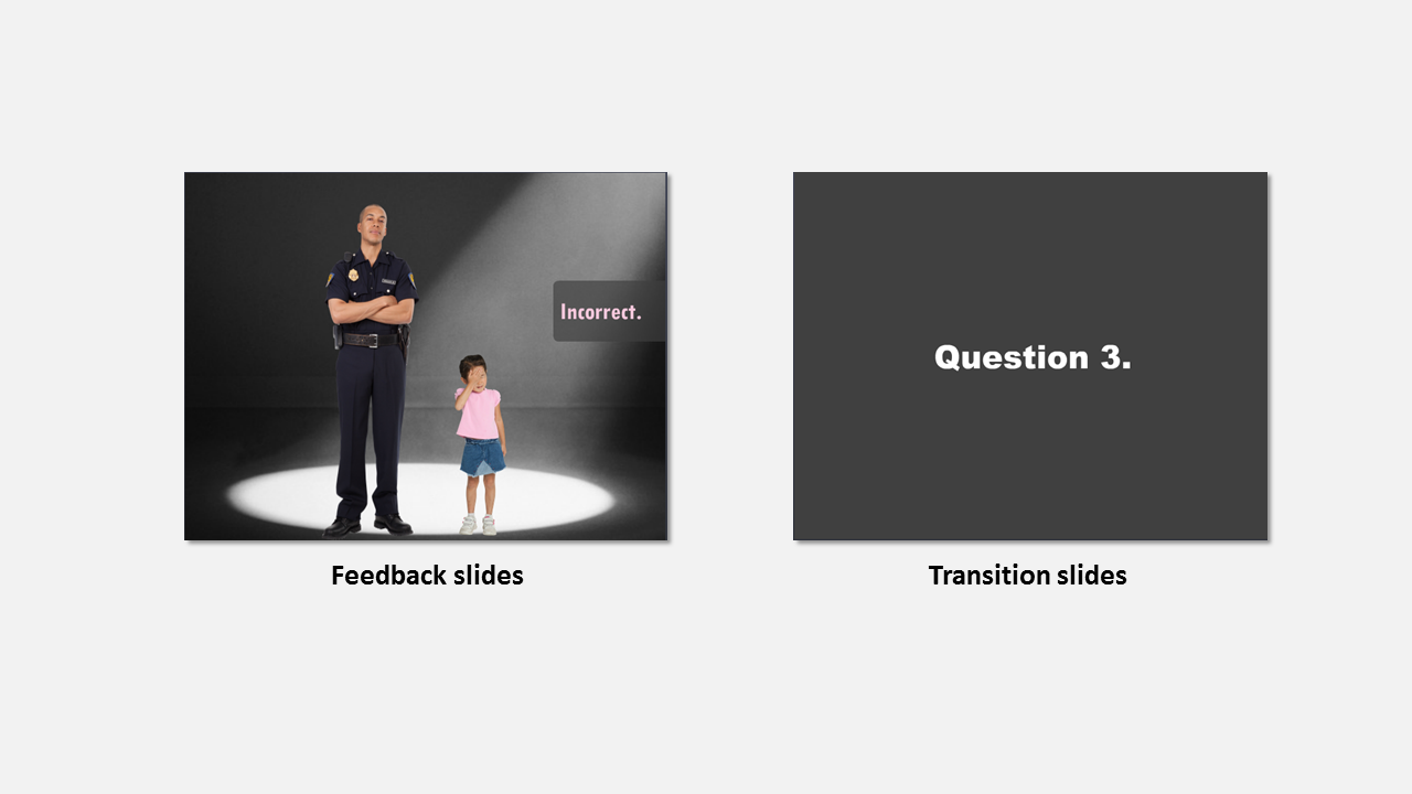 feedback slides and transitions