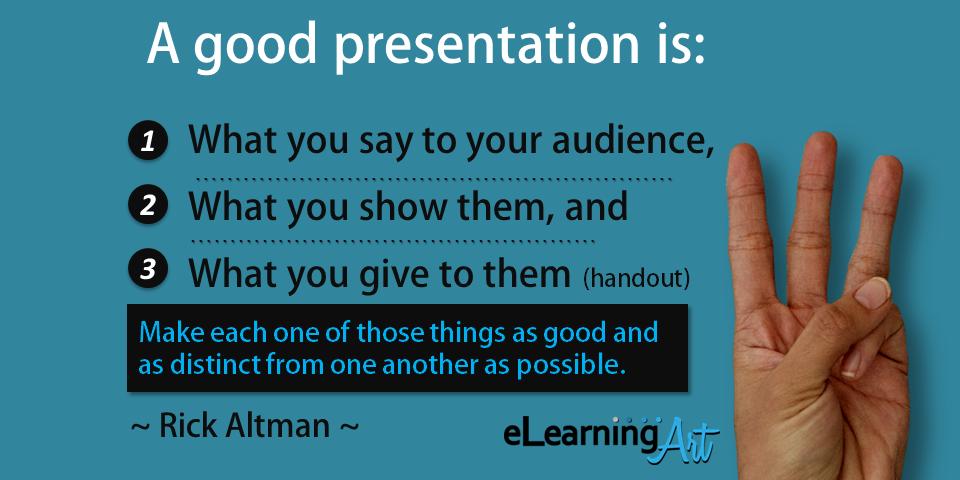 10 presentation tips from expert rick altman elearningart