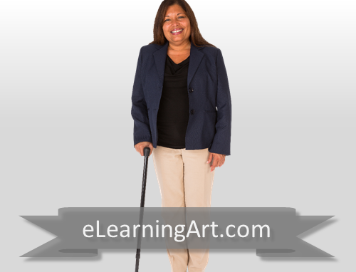 Alanda - Hispanic Woman with Cane