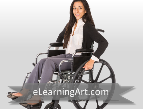 debbie white woman in wheelchair elearningart
