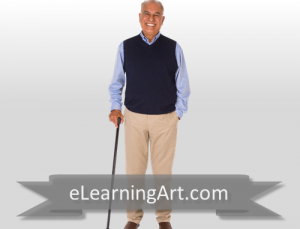 Karl - Hispanic Man with Cane
