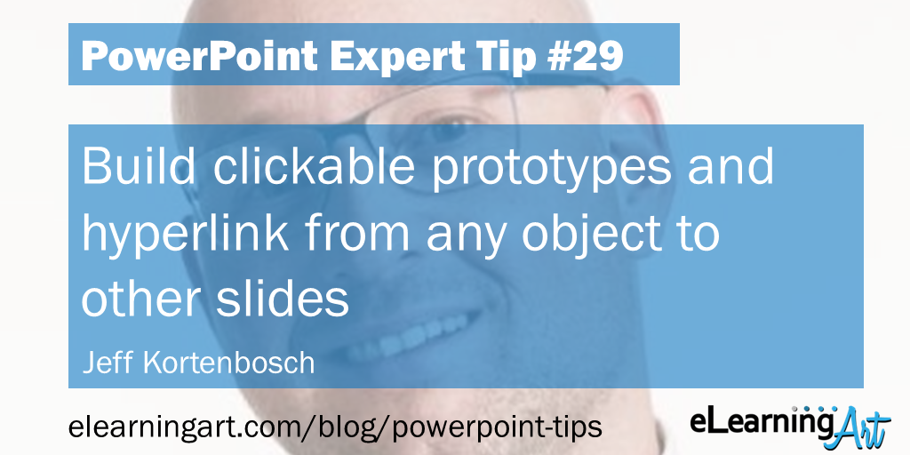 PowerPoint Website Demo Tip from Jeff Kortenbosch: Build clickable prototypes and hyperlink from any object to other slides