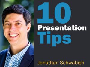 Jonathan Schwabish Better Presentations tips interview