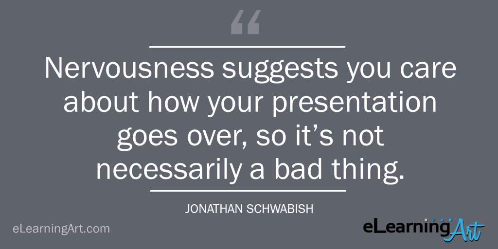 dealing with presentation nerves - tip- jonathan schwabish