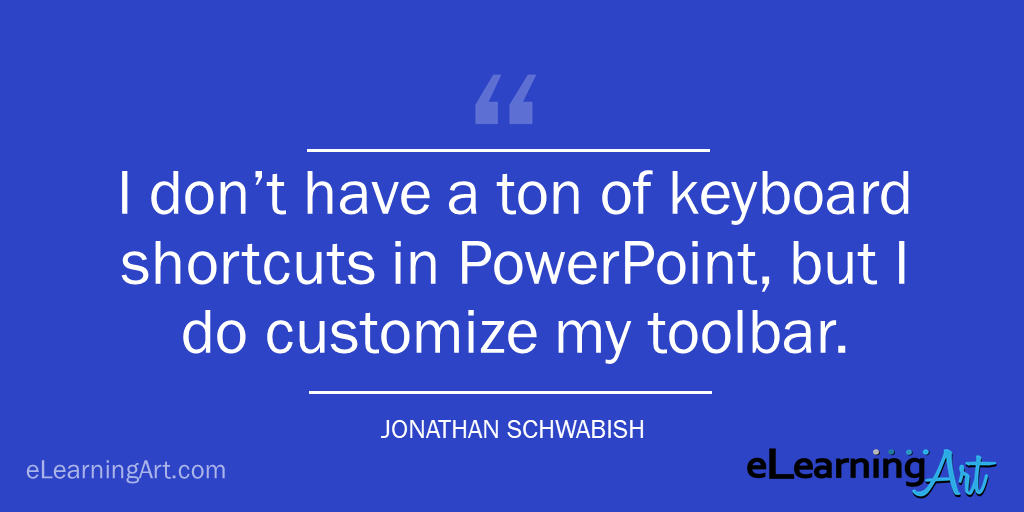 powerpoint shortcut quick access toolbar - tip - jonathan schwabish