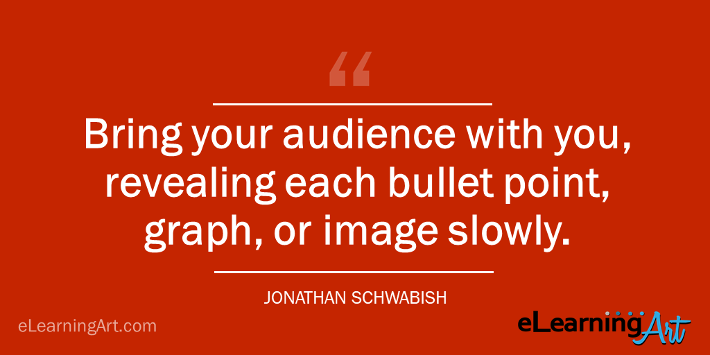 Presentation tip on how to reveal information from Jonathan Schwabish