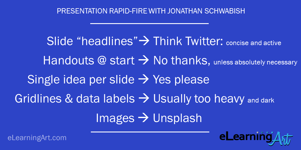 presentation tips rapid fire jonathan schwabish