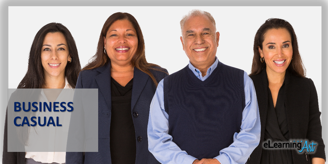 people cutout images in business casual