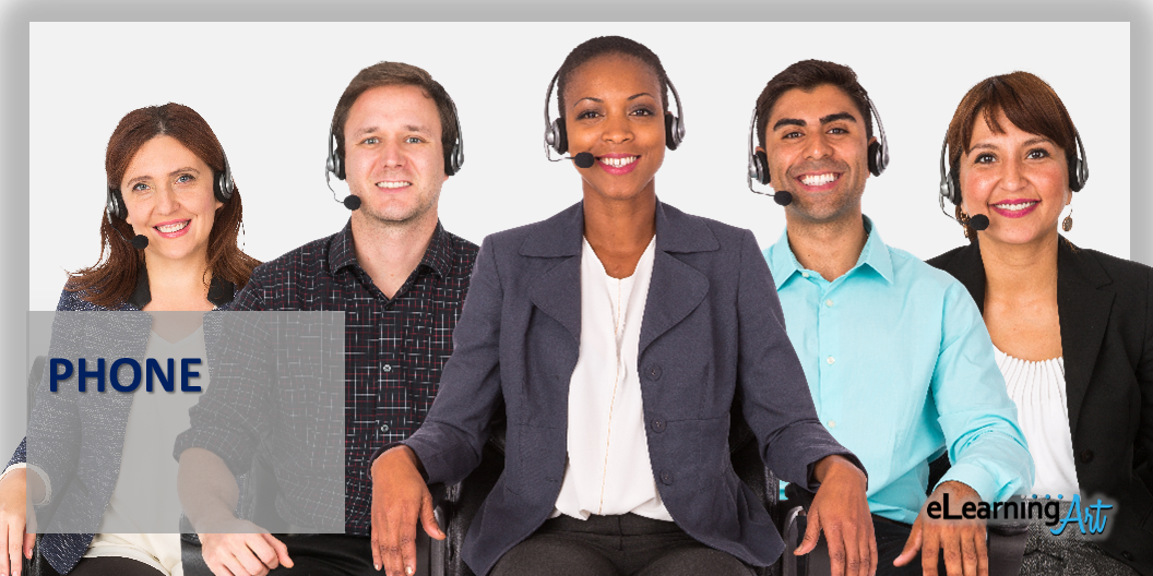 eLearning characters call center