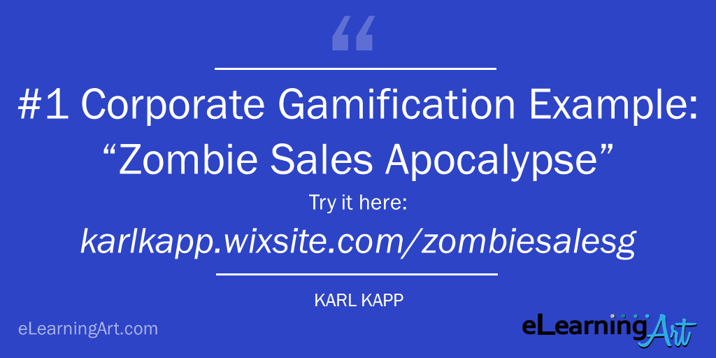 Corporate gamification example