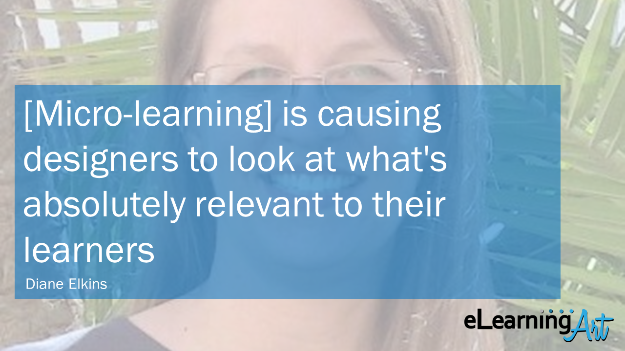 eLearning Trends 2018 Micro Learning Diane Elkins