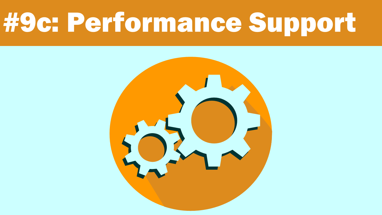Performance Support - eLearning Trends 2018