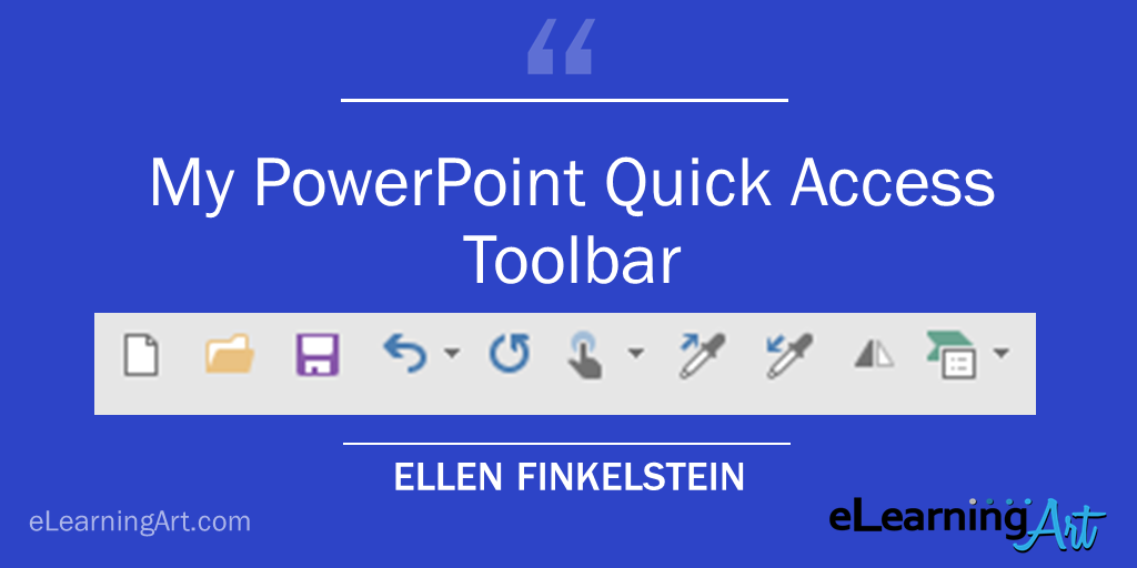 PowerPoint Quick Access Toolbar Example