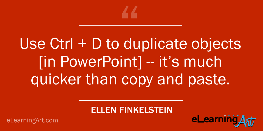 PowerPoint Shortcut- Duplicate Objects CTRL + D