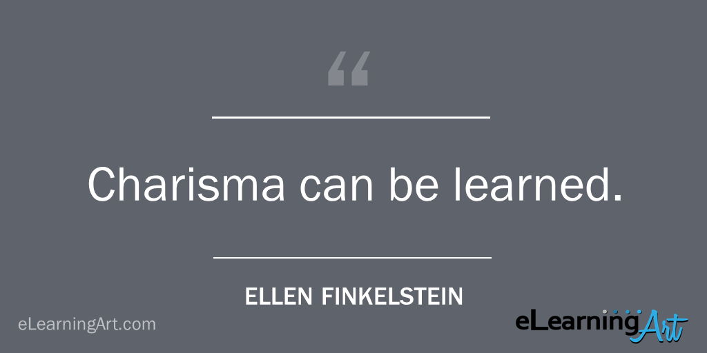 Presentation Tip- Charisma can be learned