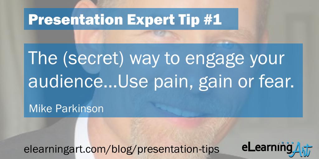 Presentation Engagement Tip - Mike Parkinson