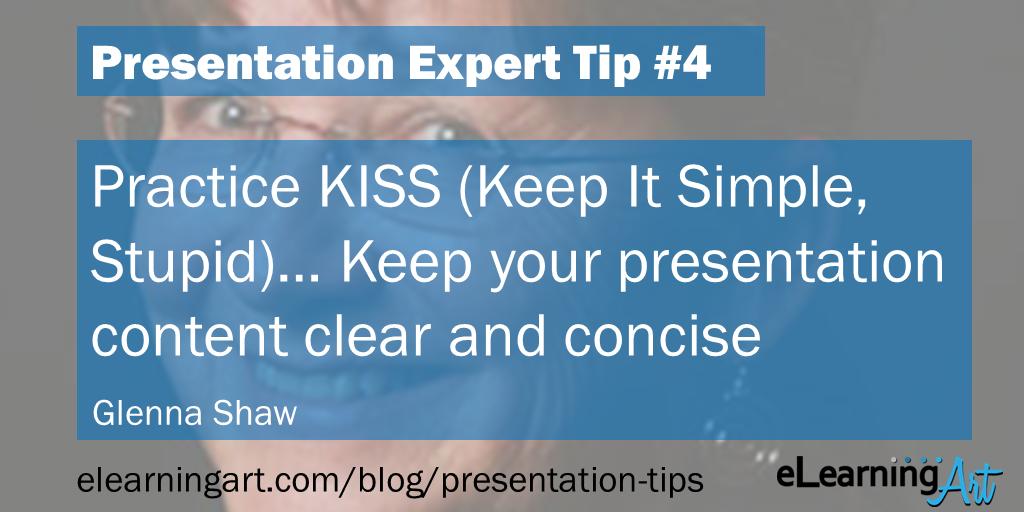 Presentation Simplicity Tip - Glenna Shaw