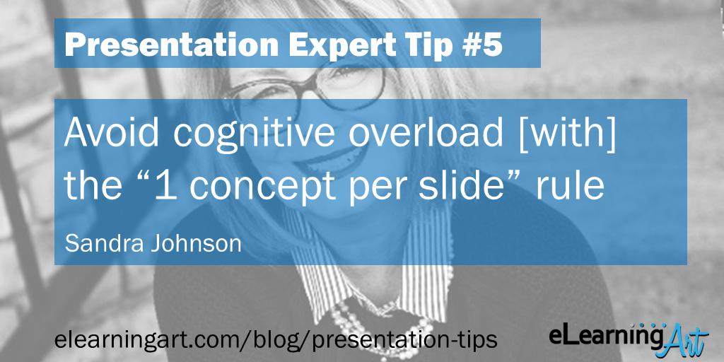 Presentation Design Tip - Sandra Johnson