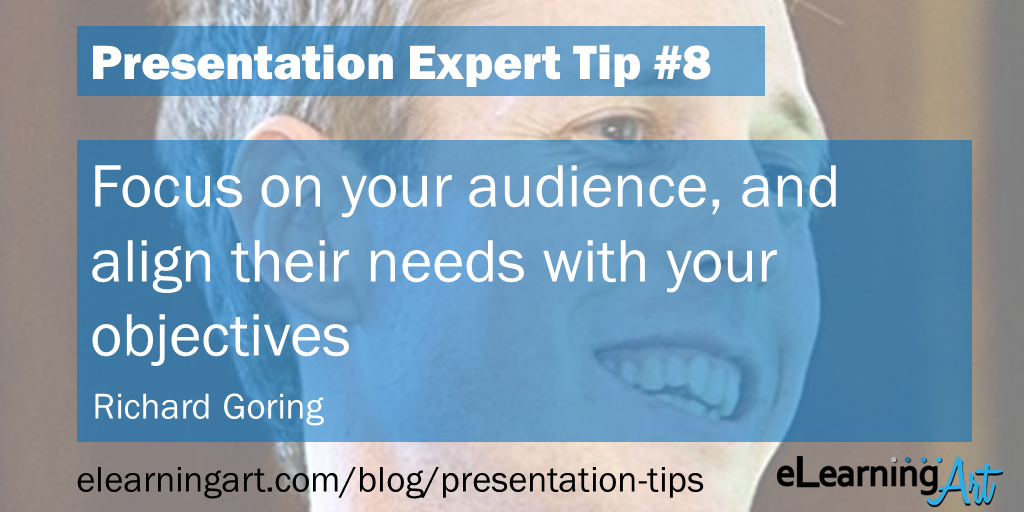 Presentation Focus Tip - Richard Goring