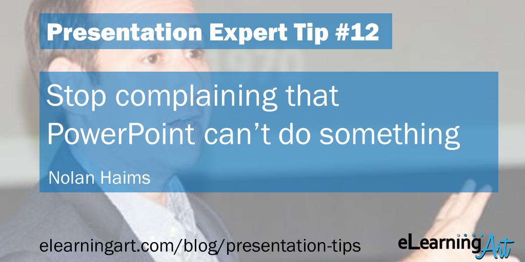 Presentation Complaint Tip - Nolan Haims
